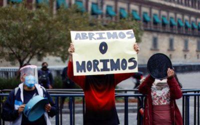 Trabajadores mexicanos protestan «Abrimos o Morimos»