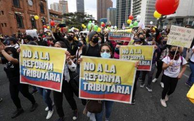 Reforma tributaria en Colombia y protestas